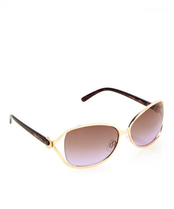 Matte Gold Cutout Sunglasses