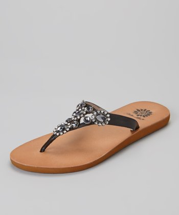 Black Jewel Ami Sandal