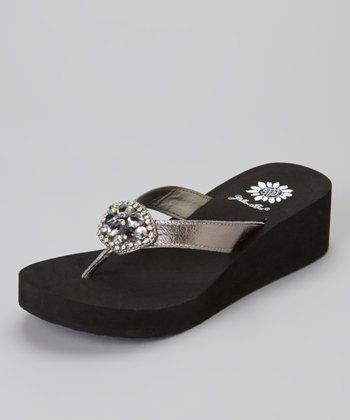 Pewter Cairo Wedge Sandal