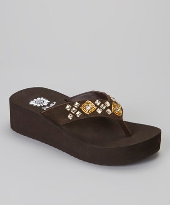 Brown Dancine Wedge Sandal