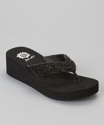 Black Lilo Wedge Sandal