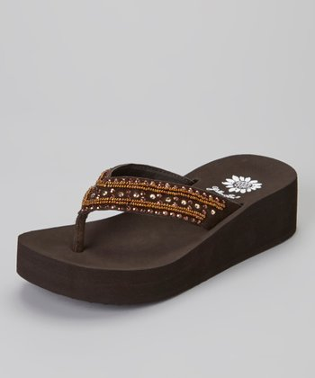 Brown Sience Wedge Sandal