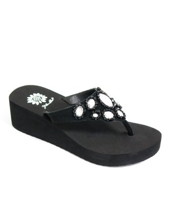 Black Amabel Wedge Sandal