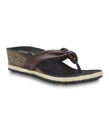Chocolate Calm Post Orthotic Wedge Sandal – Women