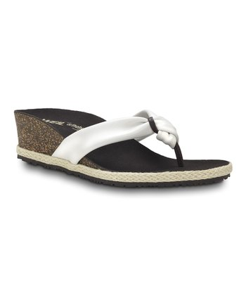 White Calm Post Orthotic Wedge Sandal – Women