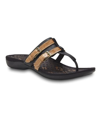 Black Clarity Toe Post Sandal – Women