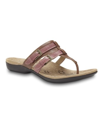 Tan Clarity Toe Post Sandal – Women