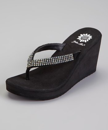 Clear Beaded Stage Sandal