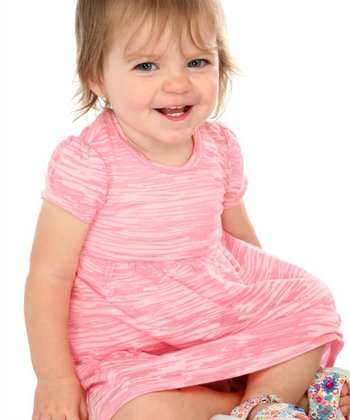 Baby Pink Burnout Dress - Infant