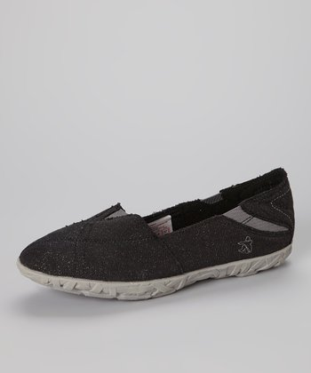Black Metallic Hellyer Slip-On Sneaker - Women