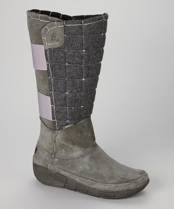 Gray Quilt Trip Boot - Women
