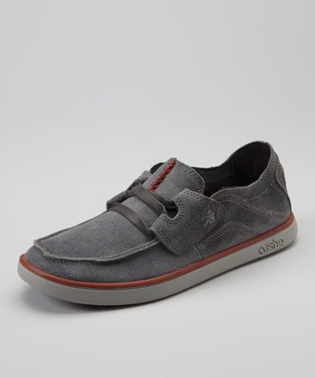 Dark Gray Evo-Lite Taylor Suede Loafer - Men