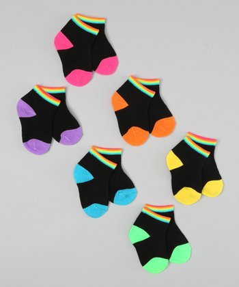 Black Neon Rainbow Socks Set