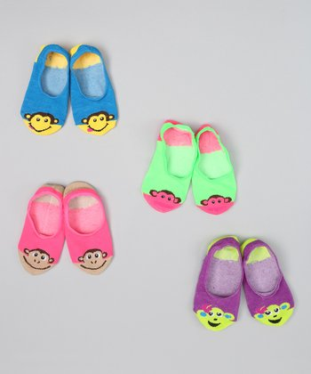 Pink & Purple Monkey Socklet Set