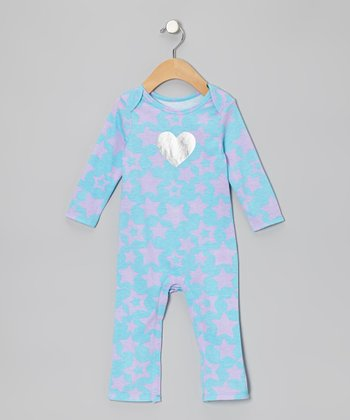 Turquoise Star Playsuit - Infant
