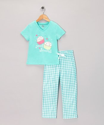 Cockatoo 'Sweet Dreams' Cupcake Pajama Set - Girls