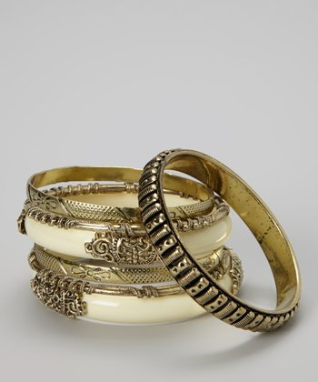 Ivory & Gold Bangle Set