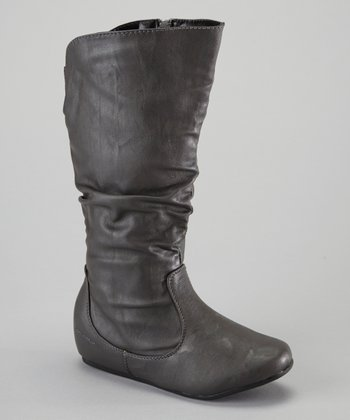 Gray Zipper Boot