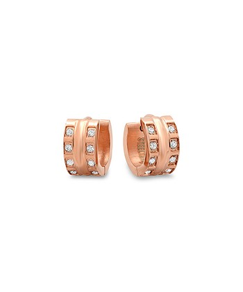 Rose Gold Square Cutout Huggie Earrings