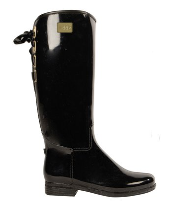 Black Victoria Rain Boot - Women