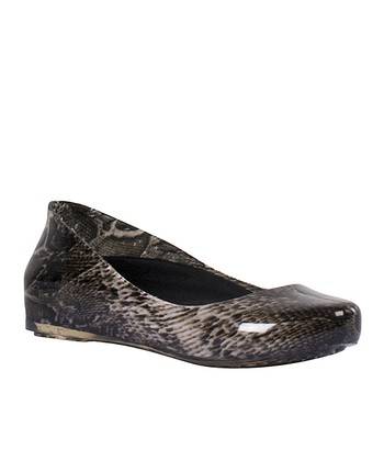 Brown Snake Rain Flat -  Women