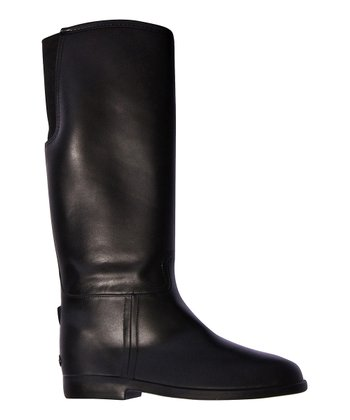 Black Equestrian Rain Boot - Women