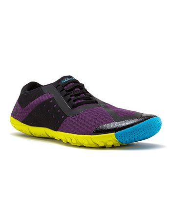 Dark Purple & Black Phase Running Shoe - Women