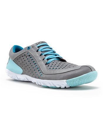 Gray & Light Blue Core Running Shoe - Women