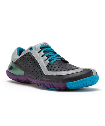 Gray & Blue Core Running Shoe