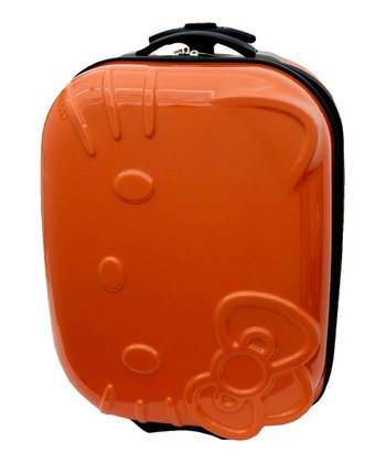 Neon Orange Hello Kitty 15'' Wheeled Carry-On
