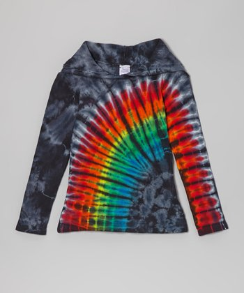 Rainbow Eclipse Tie-Dye Hoodie - Toddler & Girls