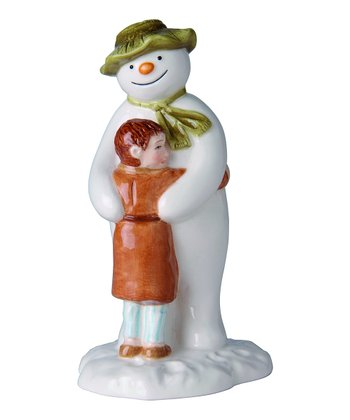 Snowman & James Hugging Figurine