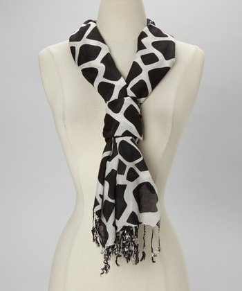 Black Stepping Stones Scarf