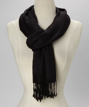 Black Solid Scarf