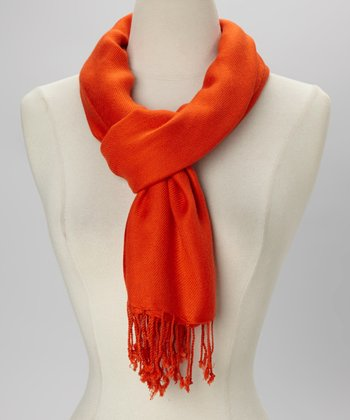Orange Solid Scarf