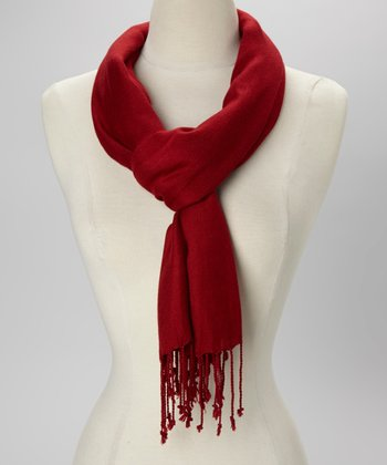 Red Solid Scarf