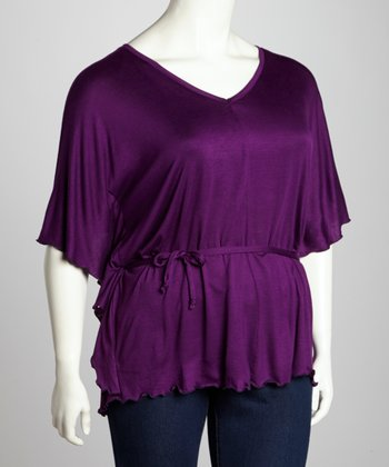 Purple Dolman Top - Plus