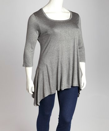 Charcoal Sidetail Tunic - Plus