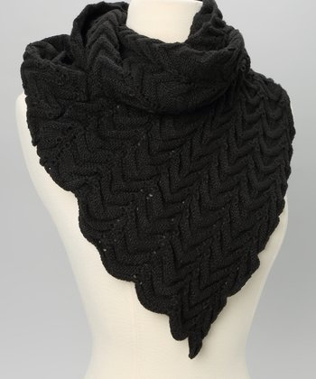 Black V-Front Neck Warmer