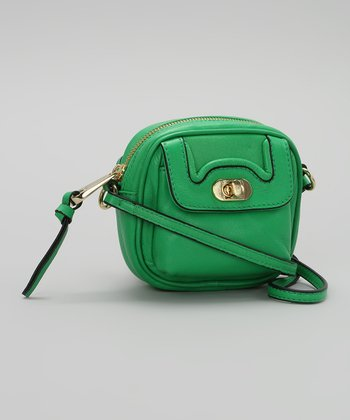 Kelly Green Leather Crossbody Bag