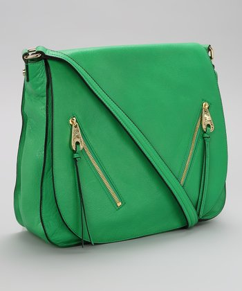 Kelly Green Messenger Bag