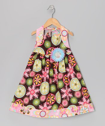 Carnival Bloom Halter Dress - Infant & Toddler