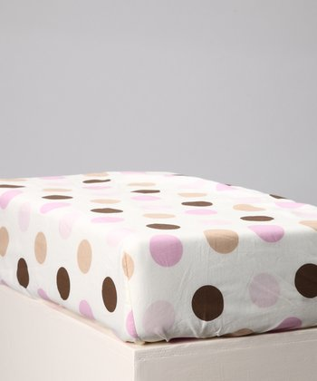 Pink & Chocolate Baby Love Crib Sheet