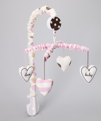 Pink & Chocolate 'Baby Love' Mobile