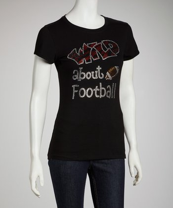Black 'Wild About Football' Tee - Women & Plus