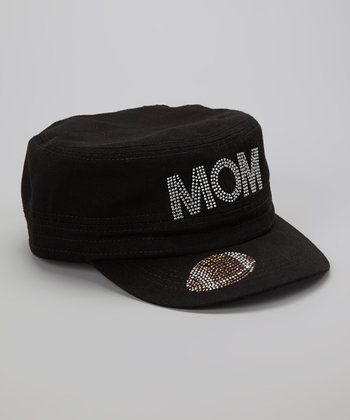 Black Football 'Mom' Military Cap