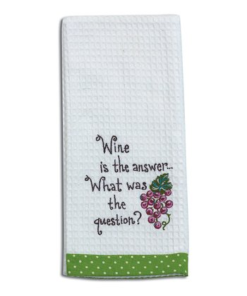 Kay Dee Designs 'Wine is the Answer' Kitchen Towel - Set of Two