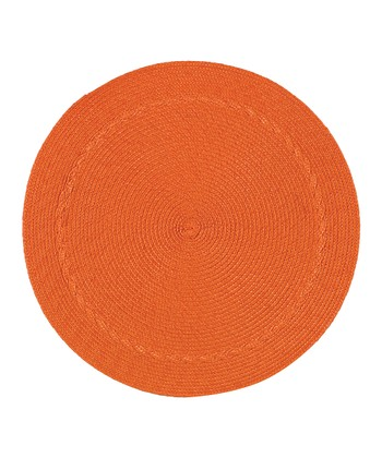 Orange Round Place Mat - Set of Four