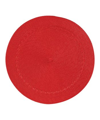 Red Round Place Mat - Set of Four