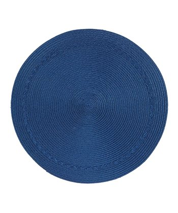 Indigo Round Place Mat - Set of Four
